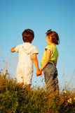Romantic vision of two children Royalty Free Stock Photos