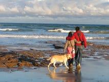 Romantic walk. A romantic walk along the shore Stock Image