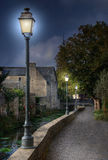 A romantic walk in bayeux Stock Images