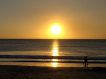 Romantic walk, Guanacaste, Costa Rica Royalty Free Stock Image