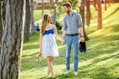 Romantic walk in nature royalty free stock photos