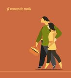 Romantic walk Stock Photography