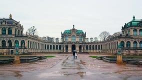 Rainy winter day in Dresden