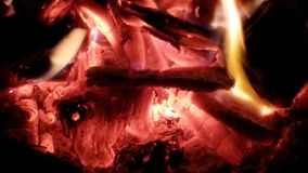 Romantic warmth. Camp fire and wine Royalty Free Stock Photos