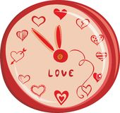 Romantic watch design in vector Stock Photo