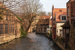 Romantic waters of Bruges Royalty Free Stock Photography