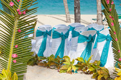 Romantic wedding arch Stock Images