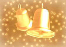 Romantic wedding bells on abstract background Royalty Free Stock Image