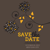 Romantic wedding card,save the date illustration Stock Photos