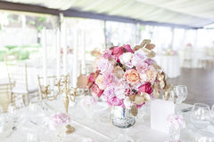 Romantic Wedding Centerpiece Royalty Free Stock Photo