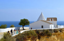 A romantic wedding ceremony in the sun. Senhora da Rocha, Algarve, Portugal - September 27, 2014: A romantic wedding ceremony in the sun Royalty Free Stock Image