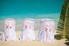 Romantic wedding chairs Royalty Free Stock Photos