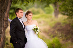 Romantic wedding couple Royalty Free Stock Photos