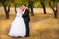 Romantic wedding couple Royalty Free Stock Images