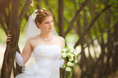 Romantic wedding couple Stock Images
