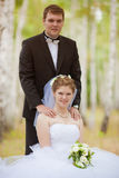 Romantic wedding couple Royalty Free Stock Images