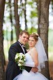 Romantic wedding couple Royalty Free Stock Photo