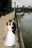 Romantic wedding couple Royalty Free Stock Photography
