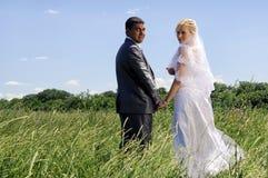 Romantic wedding couple Stock Photo