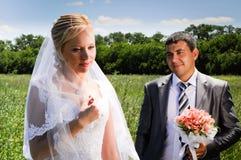 Romantic wedding couple Stock Image