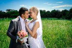 Romantic wedding couple Royalty Free Stock Image