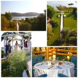 Romantic Wedding Day venue Stock Photo