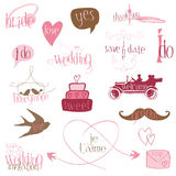 Romantic Wedding Design Elements Stock Photo