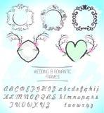 Romantic wedding frames Stock Photos