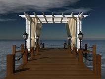 Romantic wedding gazebo on the sea Stock Image