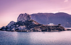 Romantic wedding on greek island Royalty Free Stock Photography