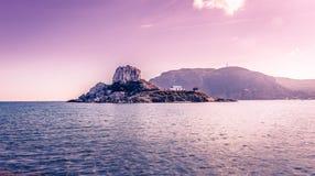 Romantic wedding on greek island Stock Photography