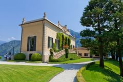 Villa del Balbianello on Lake Como, Lenno, Lombardia, Italy royalty free stock photography