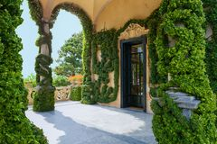 Loggia of Villa del Balbianello, Lenno, Lombardia, Italy. Romantic wedding place on Como Lake - famous Villa del Balbianello, Lenno, Lombardia, Italy royalty free stock photography