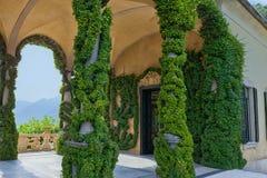 Loggia of Villa del Balbianello, Lenno, Lombardia, Italy. Romantic wedding place on Como Lake - famous Villa del Balbianello, Lenno, Lombardia, Italy royalty free stock image