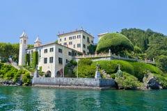 Villa del Balbianello on Lake Como, Lenno, Lombardia, Italy. Romantic wedding place on Como Lake - famous Villa del Balbianello, Lenno, Lombardia, Italy royalty free stock photography
