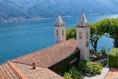 Villa del Balbianello on Lake Como, Lenno, Lombardia, Italy. Romantic wedding place on Como Lake - famous Villa del Balbianello, Lenno, Lombardia, Italy royalty free stock image