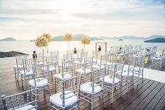 Romantic wedding on the rooftop of the hotel. Wedding on the rooftop of the hotel lawn stock photography