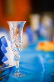 Romantic wedding setting Stock Photography