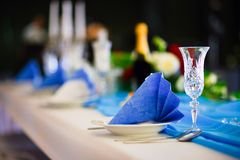 Romantic wedding setting Stock Image