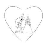 Romantic wedding.Vector illustration. Stock Photography