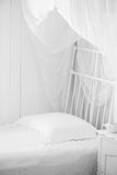 Romantic white bedroom Royalty Free Stock Images