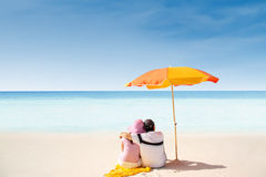 Romantic Whitehaven beach stock photo
