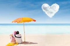 Romantic Whitehaven beach Stock Photos