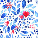 Romantic winter pattern Royalty Free Stock Images