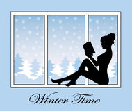 Romantic winter time Stock Image