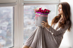 Romantic woman at home Royalty Free Stock Image