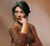 Romantic Woman Portrait Stock Images