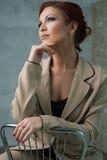 Romantic woman studio portrait Stock Images