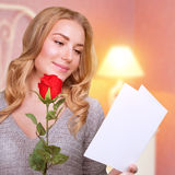 Romantic woman in Valentine day Stock Photo