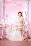 Romantic woman in a vintage dress Royalty Free Stock Photos